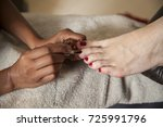 day spa foot pedicure and nails | Shutterstock . vector #725991796