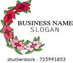 flower icon logo background | Shutterstock .eps vector #725991853