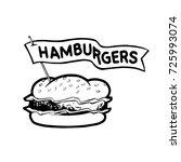 hamburger vector illustration | Shutterstock .eps vector #725993074