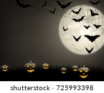 grey halloween background with... | Shutterstock .eps vector #725993398