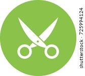 pair of scissors i | Shutterstock .eps vector #725994124