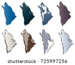 set the head of a wolf.... | Shutterstock .eps vector #725997256