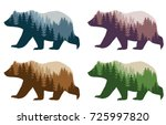 colorful styling bear for your... | Shutterstock .eps vector #725997820