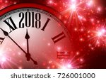 red shining 2018 new year... | Shutterstock .eps vector #726001000