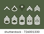 military ranks stripes and... | Shutterstock .eps vector #726001330