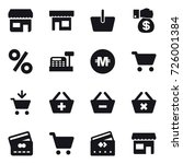 16 vector icon set   shop ... | Shutterstock .eps vector #726001384