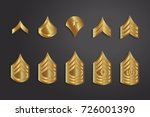 military ranks stripes and...   Shutterstock .eps vector #726001390