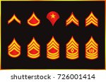 military ranks stripes and...   Shutterstock .eps vector #726001414