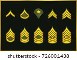 military ranks stripes and...   Shutterstock .eps vector #726001438