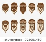 military ranks stripes and...   Shutterstock .eps vector #726001450