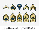 military ranks stripes and... | Shutterstock .eps vector #726001519