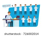 set of character person medical ... | Shutterstock . vector #726002014