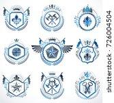 set of vector vintage emblems...   Shutterstock .eps vector #726004504
