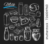 dairy products vector... | Shutterstock .eps vector #726004960
