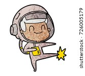 happy cartoon astronaut   Shutterstock .eps vector #726005179