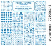 vector pixel icons isolated ...
