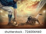 baseball players in action on... | Shutterstock . vector #726006460