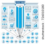 infographics template  centered ...