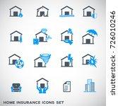 home insurance icons set   Shutterstock .eps vector #726010246