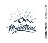 mountains vector illustration... | Shutterstock .eps vector #726010249