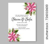 peony wedding invitation | Shutterstock .eps vector #726010600