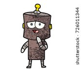 cartoon robot | Shutterstock .eps vector #726011344