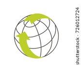 world recycling logo. vector... | Shutterstock .eps vector #726012724