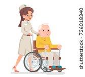 cute doctor attendant nurse... | Shutterstock .eps vector #726018340