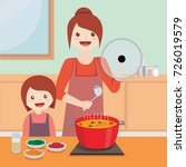 illustration vector of mom and... | Shutterstock .eps vector #726019579