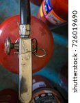 Small photo of Fire extinguisher components,Old condition works,gules