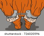 the prisoner is handcuffed and... | Shutterstock . vector #726020596