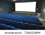 empty movie cinema with rows of ... | Shutterstock . vector #726022894