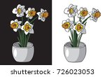 illustration on white and black ... | Shutterstock .eps vector #726023053