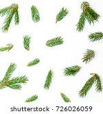 christmas pattern of green... | Shutterstock . vector #726026059