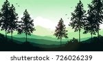 hand drawn vector lanscape with ... | Shutterstock .eps vector #726026239