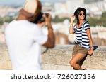 portrait of handsome young man...   Shutterstock . vector #726027136