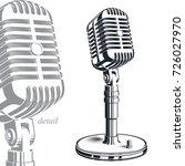recorder microphone vector... | Shutterstock .eps vector #726027970