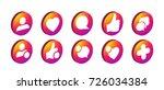trendy social network icons set ... | Shutterstock .eps vector #726034384