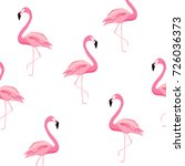 flamingo pattern background.... | Shutterstock .eps vector #726036373
