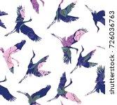 Stock vector crane birds vector illustration 726036763