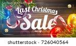 christmas sale vector ads...   Shutterstock .eps vector #726040564