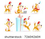 collection of cartoon funny...   Shutterstock . vector #726042604