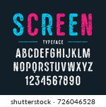 decorative sanserif font with... | Shutterstock .eps vector #726046528