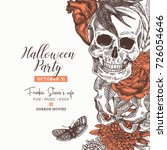 halloween party design template.... | Shutterstock .eps vector #726054646