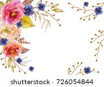 Watercolor Frame With Flowers ...