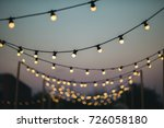 outdoors wedding decoration... | Shutterstock . vector #726058180