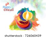 diwali greeting with a grungy...   Shutterstock .eps vector #726060439