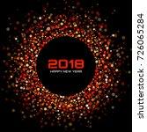vector  happy new year 2018... | Shutterstock .eps vector #726065284