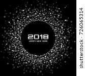 vector  happy new year 2018... | Shutterstock .eps vector #726065314