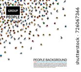 group big people crowd on white ... | Shutterstock .eps vector #726067366
